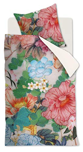 Beddinghouse Mako Satin Bed Linen 2-Piece Duvet Cover 155 x 220 cm and Pillowcase 80 x 80 cm Herbarium 180017 Multi