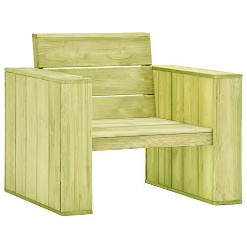 Festnight Tuinstoel Eetkamerstoel fauteuil kan worden gebruikt bij receptie thuiskantoor woonkamer slaapkamer eetkamer woonkamer keuken balkon 89x76x76 cm geïmpregneerd grenenhout