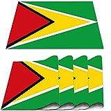 COFEIYISI Platzsets(4er Set),Flagge von Guyana Erwachsene Kinder drucken Rauchallergien Tischset Hitzewiderstandsfähig Platzdeckchen für Küche Weihnachten,Bankett,Geburtstag,Hochzeit 30x45cm