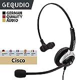 Business Headset geeignet für Cisco ® Telefone - IP Phone mit RJ-Anschluss | Anschlusskabel inklusive | 60g leicht