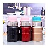 WSZMD Thermal Lunch Box Caja Almuerzo Acero Inoxidable 5 Colores For Alimentos Calientes con Contenedores 500 Ml Matraces Vacío Taza Térmico Termocup, Cubo Aislamiento (Color : 01)