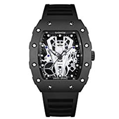 Multi-functional Fashion Watch: Quartz watch movement with time display, 12/24 hour show, High quality quartz movements provide precise travel time. Watch Features: Big face luxury watch for men, 44mm diameter dial accommodate the sub-dial. The big d...