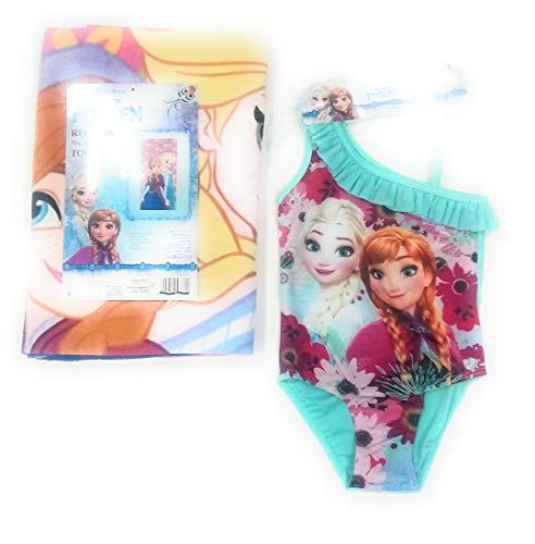 Disney Frozen Elsa en Anna zwembroek + handdoek Elsa en Anna ijskoningin microvezel