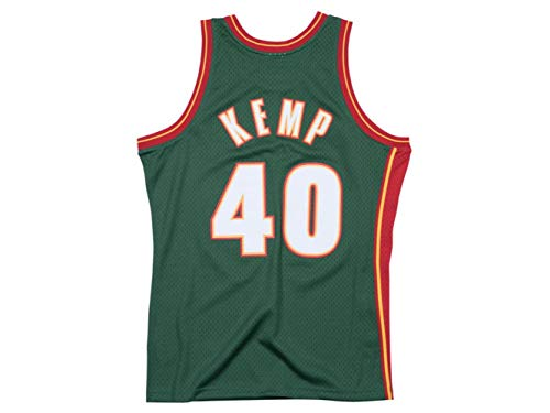 Outerstuff Youth Shawn Kemp Seattle Supersonics Green Hardwood Classic Jersey (Youth Large (14-16))