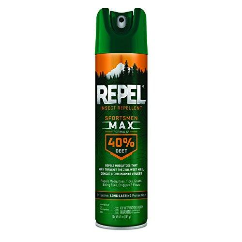 Repel Insect Repellent Sportsmen Max Formula 40% DEET, Aerosol, 6.5-Ounce, 6-Pack