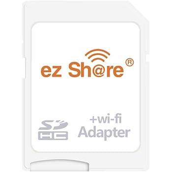 OSEI 無線LAN搭載 ez Share Wi-Fi SDHCカード Wi-fi内蔵カード Wi-Fi カード WiFi付きSDカード 無線LAN搭載SDHCメモリーカード Class10 最新世代sd wi-fi カード (WIFI SDカードアダプター)