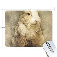マウスパッド かわいい ウサギ もふもふ 瞳 肖像画 動物 高級 ノート パソコン マウス パッド 柔らかい ゲーミング よく 滑る 便利 静音 携帯 手首 楽