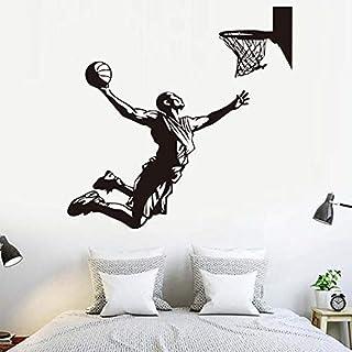 Jugador de baloncesto jugador deportivo de la NBA Kobe James Michael Jordan Slam Dunk Acción elimina la etiqueta de la pared calcomanías decoración del hogar vinilo niño regalo de los niños dormitor