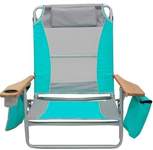 Sisliya Light Weight Backpacking Reclining/Lounging Camping Folding Beach Chair for Fishing Beach Picnic Outdoor Chairs (Color May Vary)