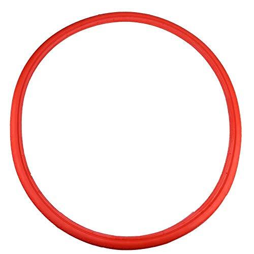 Broco Neumático de la Bicicleta Tubo sólido a Prueba de explosiones de neumáticos Engranaje Fijo 24 * 1 3/8 Rojo