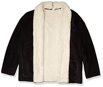 HUE Women's Fleece Bed Jacket, Black, L/XL from HUE