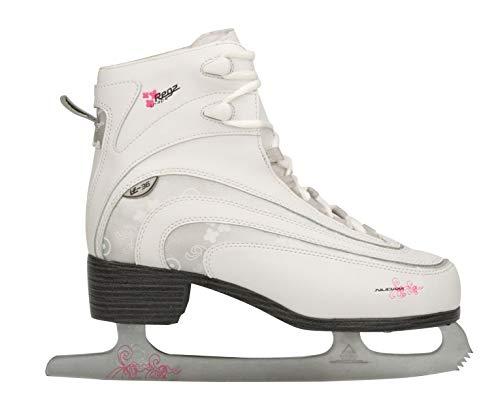 Nijdam Damen Eiskunstlauf Schlittschuhe Eiskunstlaufschlittschuhe, Weiß, 38