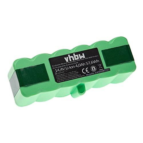 vhbw Batería recargable compatible con iRobot Roomba 677, 680, 681, 685, 690, 691, 695, 696 aspiradora, robot limpieza (4000 mAh, 14,4 V, Li-Ion)