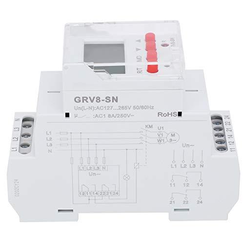 Jeanoko Spannungs-Überspannungsschutz 3-Phasen-Spannungsschutz Hoher Sicherheitsfaktor Kleines 3-Phasen-Display für LED-Anzeige GRV8-SN