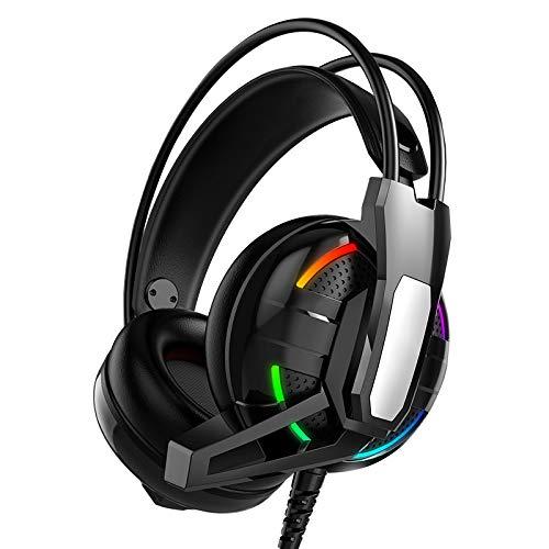 Shumo Auriculares estéreo de 7.1 canales con micrófono y cancelación de ruido para PS4/Laptop/PC Tablet