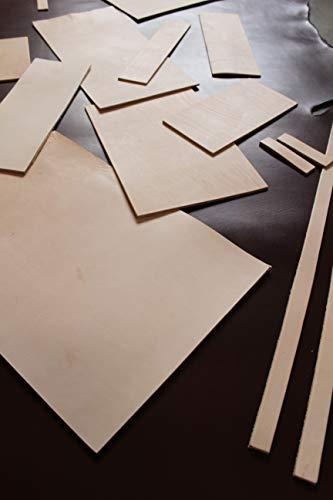 Förster-Fellnest Zuschnitt-Auswahl: Kräftiges Blankleder, Dickleder, 2,4-2,6 mm dick! Punzierleder - pflanzlich gegerbt, für viele Projekte: Tasche, Köcher, Holster, Messerscheide usw.