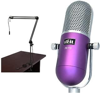 Heil Sound PR-77D Vintage Microphone (Broadcast Bundle, Purple)
