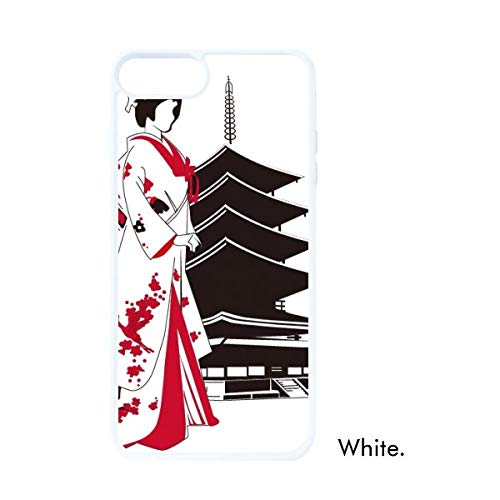 DIYthinker Japan Japanse Stijl Kimono Meisje Wit Phonecase Apple Cover Case Gift, iPhone 7/8 Plus Case
