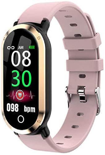 Reloj inteligente para mujer, monitor de ritmo cardíaco, presión arterial, actividad física, pulsera inteligente para mujer, reloj de pulsera deportivo A-B