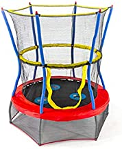 Skywalker Trampolines Mini Trampoline with Enclosure Net, 48 - Inch, Red