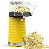Hot Air Popper Popcorn Maker, 1200W Hot Air Popcorn Popper, Electric Popcorn Machine with Removable...