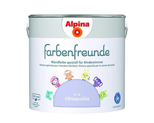Alpina Farbenfreunde 2,5L Kinderzimmerfarbe Wandfarbe (Nr.18 Oktopuslila)