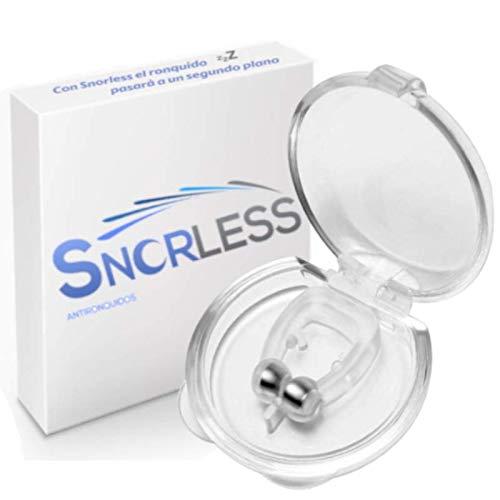 Snorless White Antironquidos Dilatador nasal - Mejora la Respiración Nariz Clip para Ayudar a Dormir Mejor Antironquidos para el Ejercicio. Descanso efectivo
