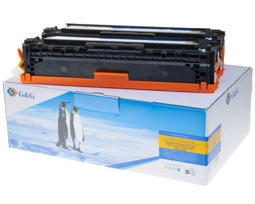 GundG Toner kompatibel zu HP 125A/ 128A/ 131A/ CB540AD/ CF210XD/ CE320AD/ Canon 716K/ 731K Doppelpack Schwarz