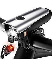 自転車ライト 自転車ヘッドライト LEDヘッドライト 2200mAH 高輝度USB充電式 4モード 最大十一時間使用 懐中電灯兼用 軍事用 IP65 防水 防災 JIS前照灯適合品【一年保証】テールライト付