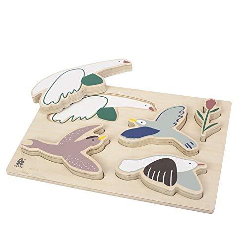 Sebra Kräftiges Puzzle aus Holz, Singing Birds