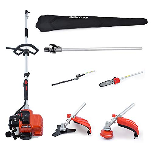 MAXTRA Reach to 16Feet Gas Pole Saw for Tree Trimming,Cordless Gas Pole...
