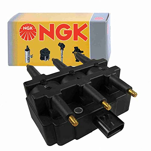 NGK Ignition Coil compatible with Jeep Wrangler 3.8L V6 2007-2011 Spark Plug Wire Boot