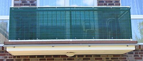 Smart Deko 78727 0,9x4m Dunkelgrün Balkonsichtschutz, Balkonverkleidung, Windschutz, Sichtschutz und UV-Schutz für Balkon, Gartenanlagen, Camping und Freizeit (Dunkelgrün) (90x400cm)