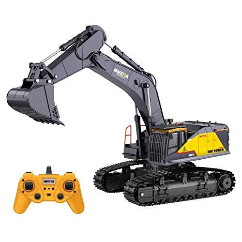GoolRC HUINA 1592 1:14 Excavadora RC 2.4Ghz Excavadora Eléctrica de Control Remoto...
