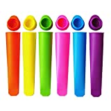 Colorful Silicone Ice Pop Mold Set,Popsicles Mould with Lid DIY Ice Cream Makers