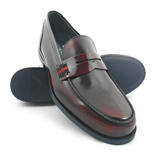 Zerimar Zapatos Castellanos Hombre | Mocasin Antifaz Hombre | Mocasines Hombre| Zapatos Hombre Vestir Color Burdeos Talla 44