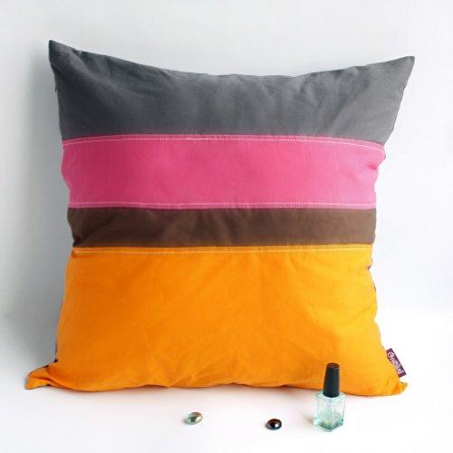 Onitiva Coussin de sol en tissu tricoté Motif patchwork 50 x 50 cm