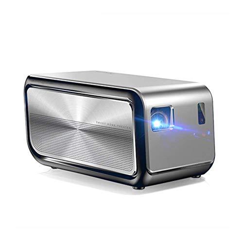 HRRF Proyector de Mini proyector DLP Proyector de Video con 1100 lúmenes, 1080p 4k Video WiFi Inicio y proyector al Aire Libre (Color: Photo Color)