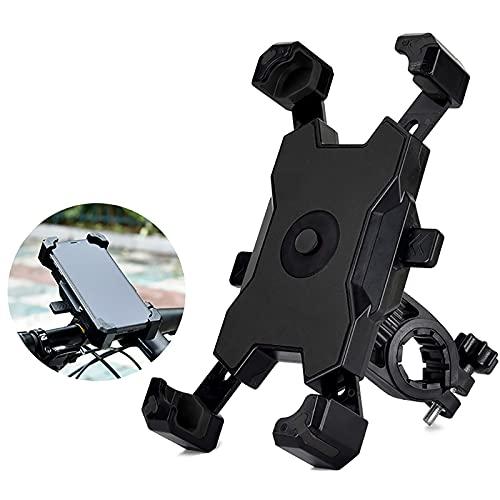 SHUAIGE Universal Bike Phone Mount Bike Phone Holder 360º aleación de aluminio giratorio ajustable desmontable adecuado para todos los teléfonos móviles