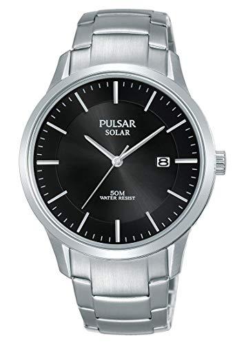 Pulsar Solar Herren-Uhr Edelstahl mit Metallband PX3161X1