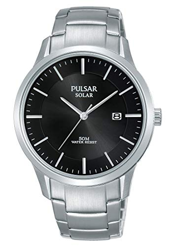 Pulsar Reloj analogico para Hombre de Cuarzo con Correa en Acero Inoxidable PX3161X1