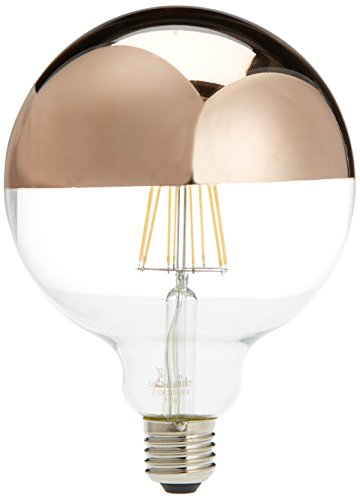 Lighted Miroir Ampoule LED Globe E27, 6 W, or rose, 125 x 170 mm