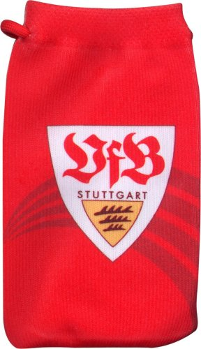 Vivanco J-Straps Handysocke aus dehnbarem Feinstrickmaterial VfB Stuttgart / Auch für MP3-Player / Maße: ca. 60 x 110 mm