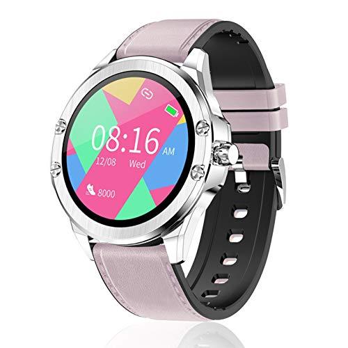 FMSBSC Reloj Inteligente para Mujer Hombre, Smartwatch Pulsómetros IP67 a Prueba de Agua Reloj Digital con Step Calories Monitor de Sueño, Reloj de Fitness con iOS Android,Rosado