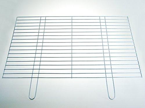 BitWa 60x50cm Grillrost stabile und schwere Ausführung mit zwei festen Handgriffen Grillkamin Kamin Gartengrill Holzkohlegrill oder Gasgrill Auflagestäbe Ø 4mm 600 x 500 mm
