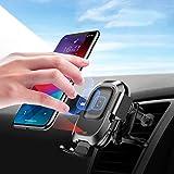 Chargeur sans Fil Voiture, Qi Support Téléphone Air Vent Mount Rotation 360° Magnétique Chargeur...