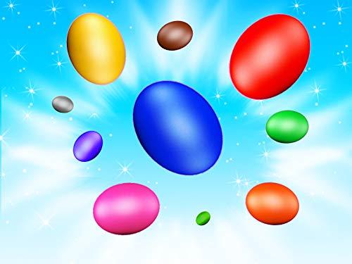 Lerne Farben mit lustigen Eiern