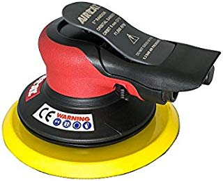 "AIRCAT 6700-5-336 5"" Palm Sander 3/16"" Orbit, Small, Red/Black"