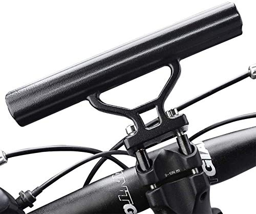 Ralos Mini Bike Handlebar Extender-Bicycle Stem Tube Extension for Light Lamp Stopwatch GPS Phone Mount Bracket Stand Holder, Space Saver for Mountain Road Bike Compatible for iPhone Samsung