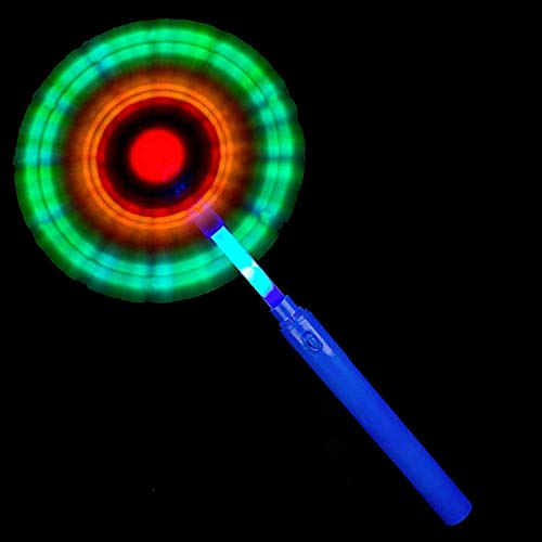 Fun Central 14 Inch LED Light Up Windmill Wand Toy for Kids & Adults